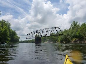 Photo: the defunct bridge