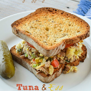 Tuna and Egg Scramble Sandwich