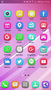 Colorful Launcher Theme FREE screenshot 5