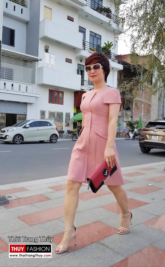 Váy xòe chữ A mặc công sở và dạo phố V700 thời trang thủy thái bình