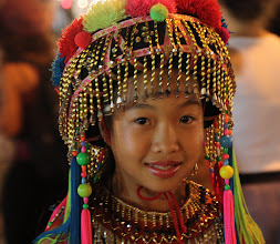 Photo: Day 337 - Hill Tribe Girl in Traditional Dress in Walking Street Market, Chiang Mai