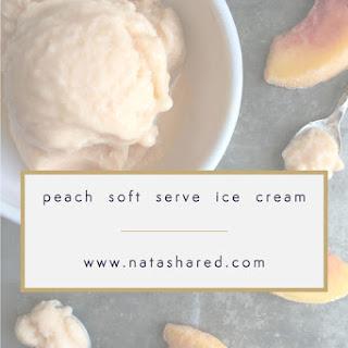 Peach Soft Serve Ice Cream