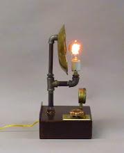 Photo: steampunk pipe lamp
