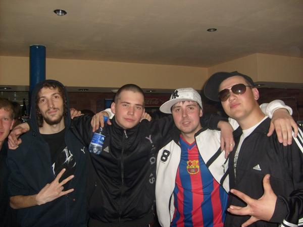 Left to right: Whiteman, Lash, D.San, Chupa.