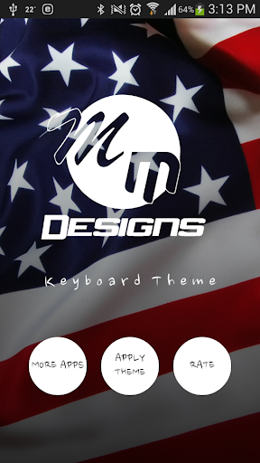 American GO Keyboard HD theme