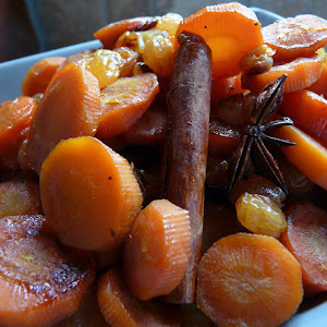 Carrots in Sweet Spices and Raisin Sauce