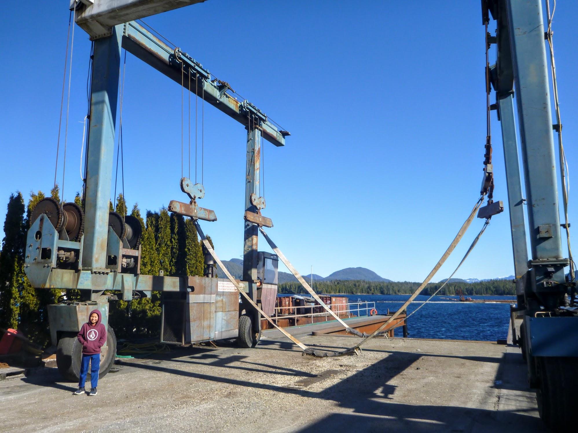 Boat crane.