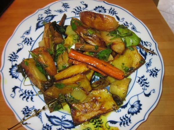 Roasted Potato And Vegetable Salad Recipe
