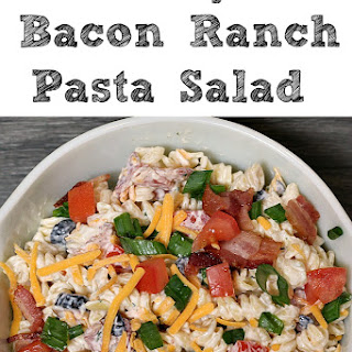 Easy Bacon Ranch Pasta Salad Recipe