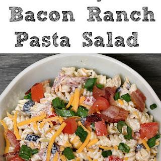 Easy Bacon Ranch Pasta Salad.