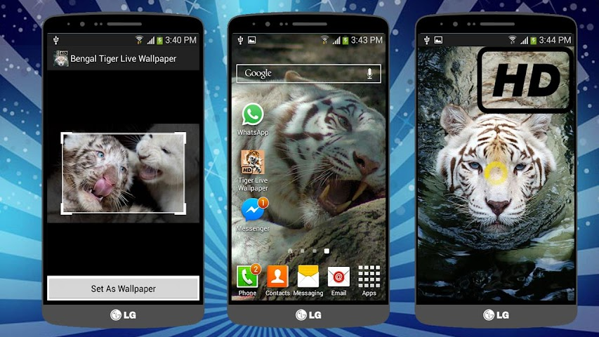 android Tiger Live Wallpaper (BANGAL) Screenshot 2