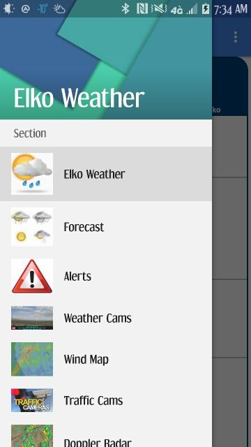 Elko Nevada Weather- screenshot