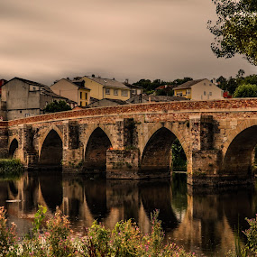 The other side of the river by Orkidea W. - Buildings & Architecture Office Buildings & Hotels ( galicia, orkidea, travel, bridge, roman )