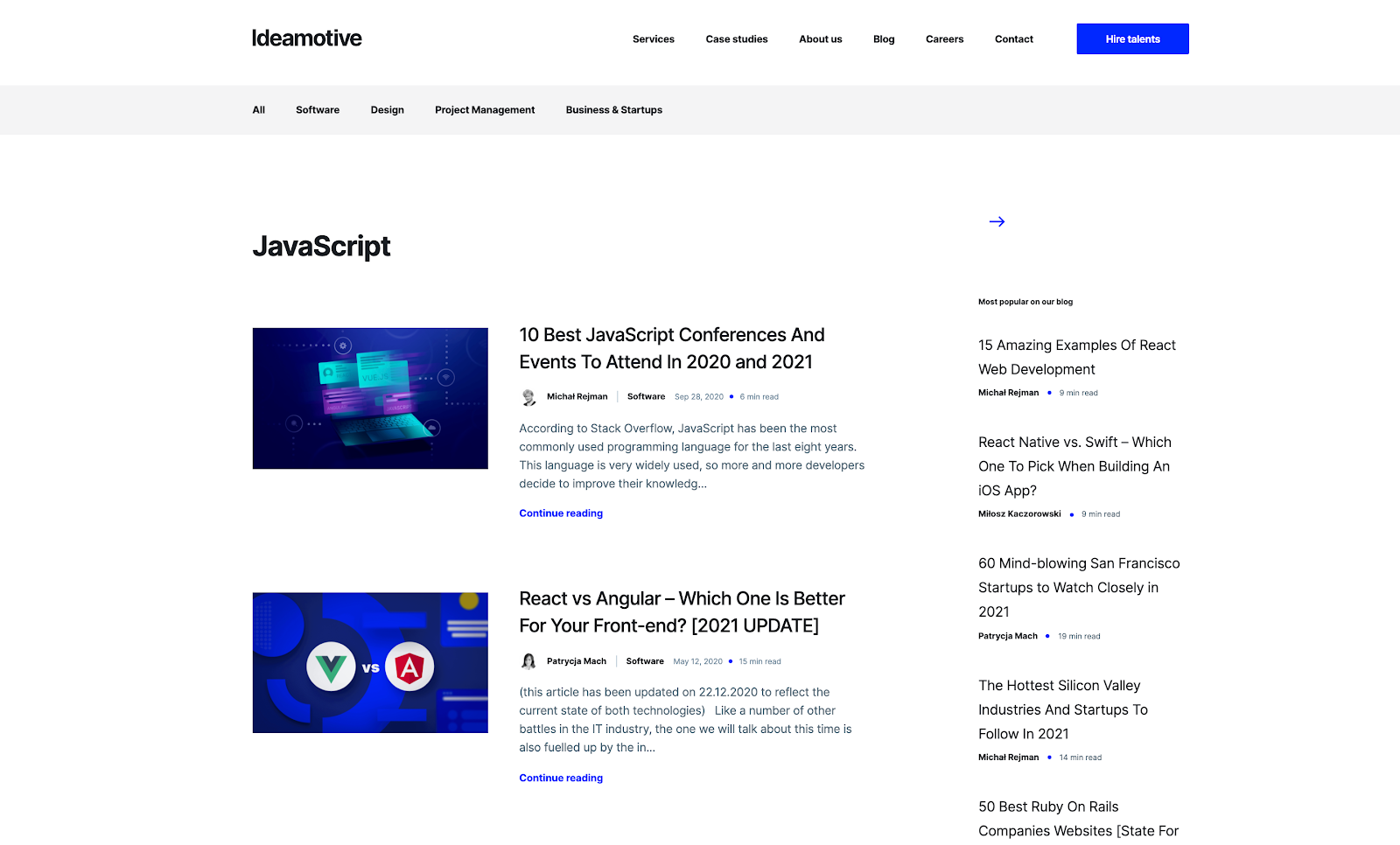 Top JavaScript Experts And Thought Leaders to Follow ideamotive