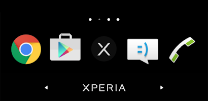 Simple Xperia Logo Theme Black - Android app on AppBrain