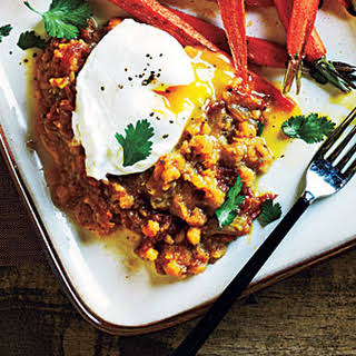 Spiced Lentils and Poached Eggs.