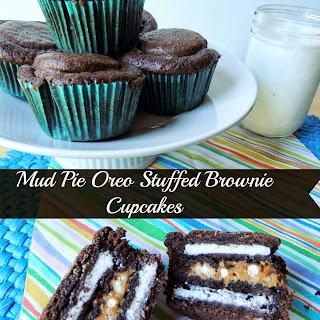 Mud Pie Oreo Stuffed Brownie Cupcakes