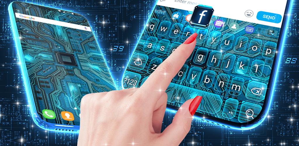 Cyber Circuit Live Wallpaper Animated Keyboard Untuk Android Apk Unduh