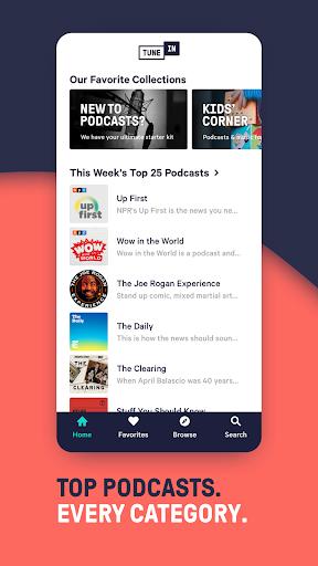 TuneIn Radio: Live Sports, News, Music & Podcasts screenshot