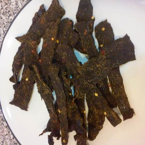 From Instagram: Alec Says I Nailed It...these Are Teriyaki Red Pepper Flakes Beef Jerky Https://instagram.com/p/29rkanlson/