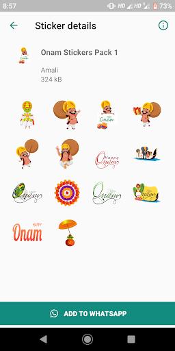 Onam Stickers for Whatsapp screenshot 2