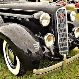 Elegant black Tie by Benito Flores Jr - Transportation Automobiles ( classic, chrome, car, austin, black, travis expo, texas, car show, lone star round up )