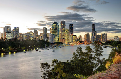 Brisbane-skyline - The skyline of Brisbane, Australia, at dusk.