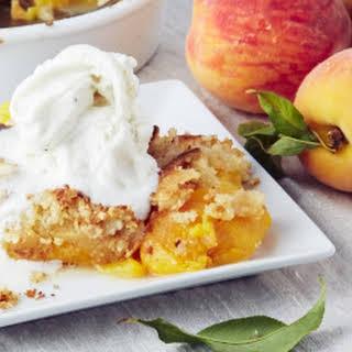 Fresh Peach Dump Cake From Scratch.