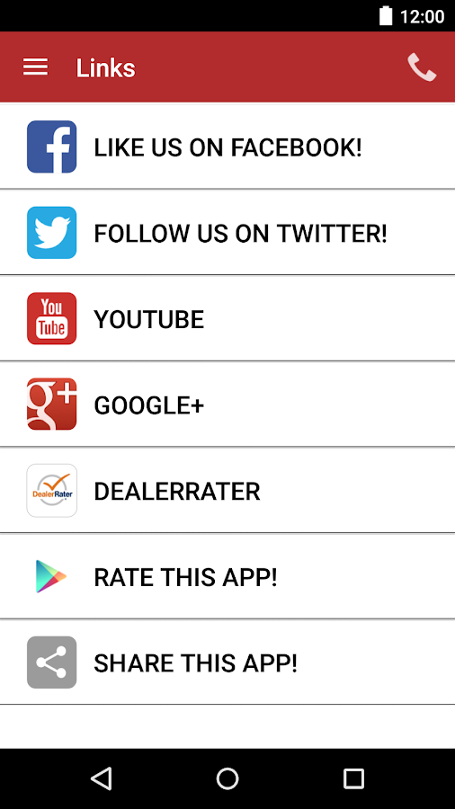 Peel Chrysler Fiat DealerApp- screenshot
