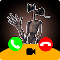 Call Siren Head chat + video call (Simulation) icon