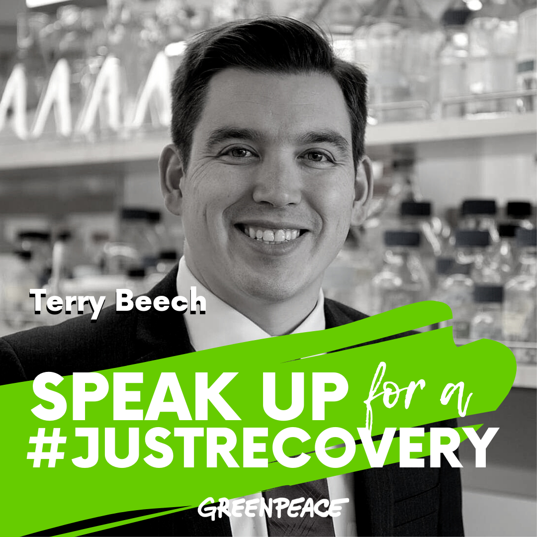 Terry Beech speak up for a green and just recovery