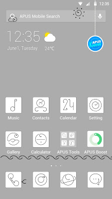 Lines-APUS Launcher theme - screenshot