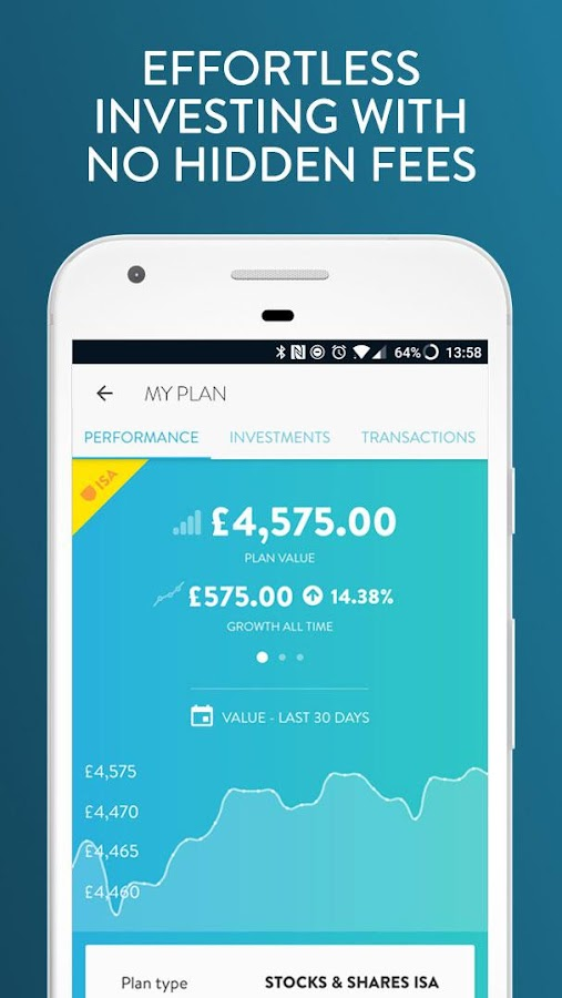 Wealthify ISAs, Saving & Investments- screenshot