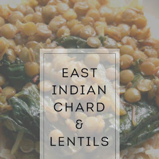 East Indian Chard and Lentils #SundaySupper.