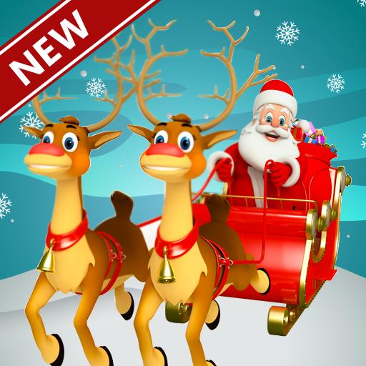 Baixar Carrinho de Presentes de Natal Santa