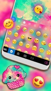 Hot Pink Cupcake Keyboard Theme - náhled