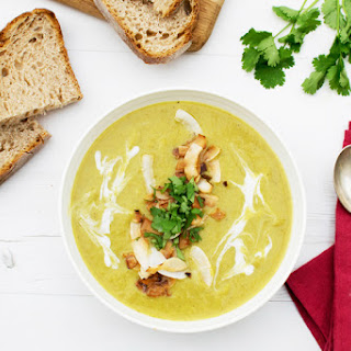 Curried Leek & Parsnip Soup [vegan] [gluten free]