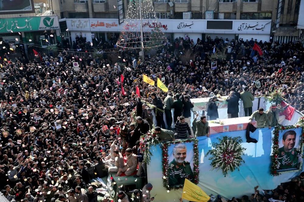 Fatal stampede in Iran at funeral for a slain commander Qassem Soleimani