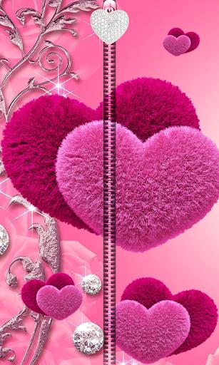 Pink Love Zipper UnLock