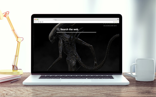 Alien Covenant New Tab Game Theme