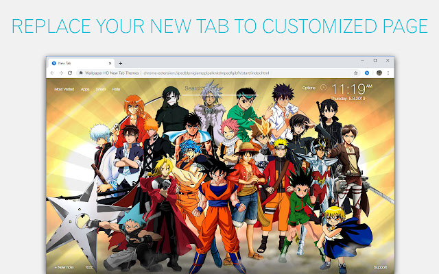 Anime Wallpapers Hd New Tab By Freeaddon Com