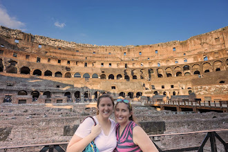 Photo: Alison and Kait in the Colosseum, Rome