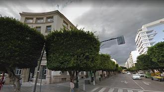 Zona del Paseo donde se localiza el edificio para la UAL.
