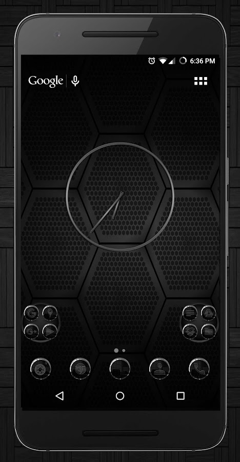 Black Carbon Icon Pack- screenshot