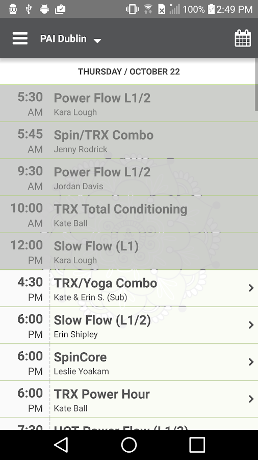 PAI Yoga and Fitness- screenshot