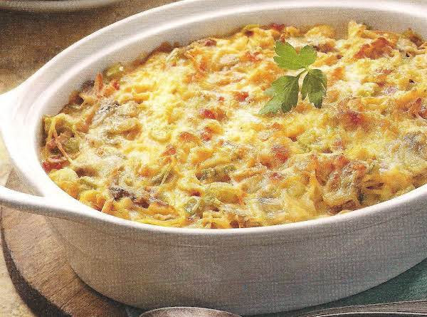 Chicken Tetrazzini With Cheddar And Pimentos