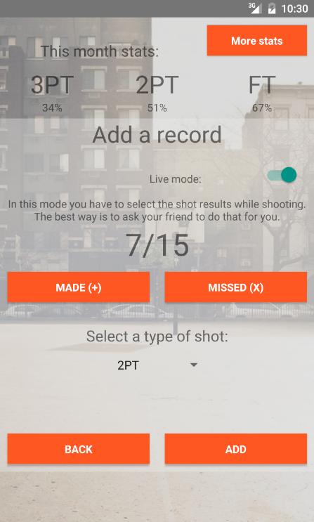 Basketball Shot Tracker
