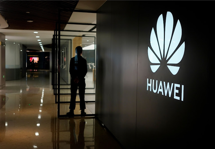A Huawei company logo is seen at a shopping mall in Shanghai, China June 3, 2019. Picture taken June 3, 2019.