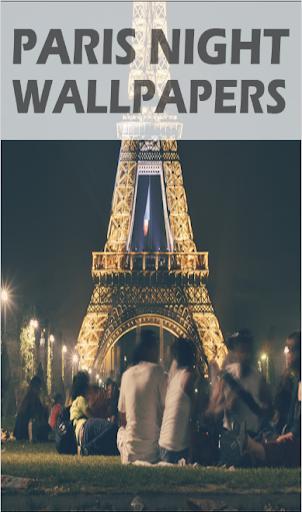 Paris de nuit fond d'écran