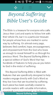 Beyond Suffering  Bible - náhled